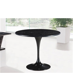 "Image of FLOWER MARBLE TABLE 32"" BLACK"