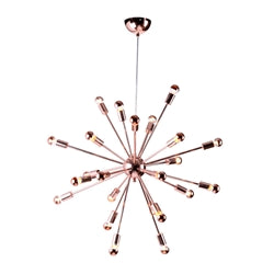 "Image of SPARK HANGING CHANDELIER 23"" COPPER"