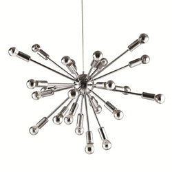 "Image of SPARK HANGING CHANDELIER 23"" SILVER"