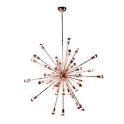 "Image of SPARK HANGING CHANDELIER 39"" COPPER"