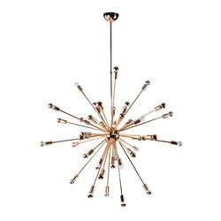 "Image of SPARK HANGING CHANDELIER 39"" GOLD"