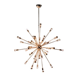"SPARK HANGING CHANDELIER 39"" GOLD"