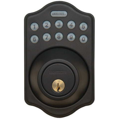 Image of Lockstate Electronic Keyless Deadbolt - Oil Rubbed Bronze