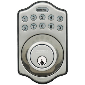 Lockstate Electronic Keyless Deadbolt - Satin Nickel