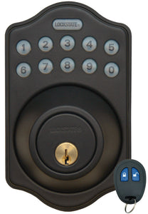 Electronic Keyless Deadbolt W/Remote - Oil Rubbed Bronze