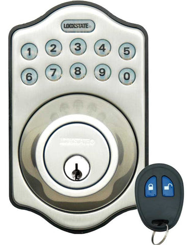Image of Electronic Keyless Deadbolt W/Remote - Satin Nickel
