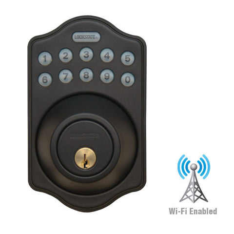 RemoteLock WiFi Electronic Deadbolt Door Lock - Oil Rubbed Bronze