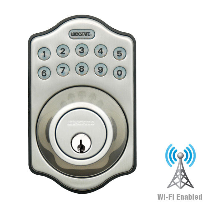 RemoteLock WiFi Electronic Deadbolt Door Lock - Satin Nickel