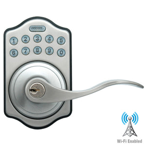 RemoteLock Wifi Lever Keypad Door Lock - Satin Nickel