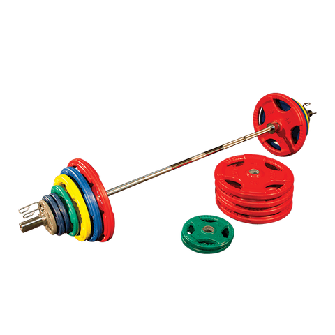 Image of Colored Rubber/Hand Grip/Oly Plate Set