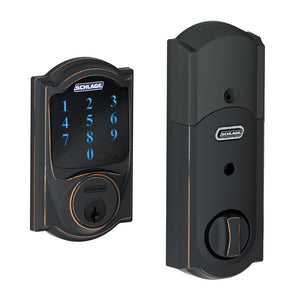 Schlage Camelot Z-Wave Motorized Touchscreen w/Alarm - Aged Bronze
