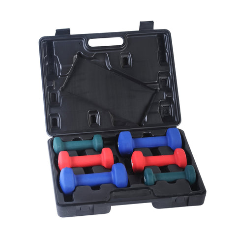 Image of Sunny Health & Fitness 2, 3, 5 Lb Neoprene Dumbbell Set W/ Case