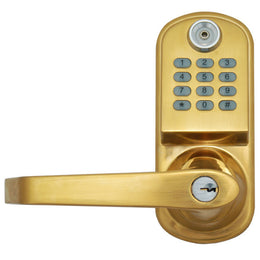ResortLock RL2000 Elcectronic Door Lock - Brass