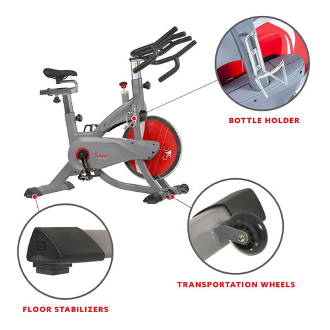 Image of Sunny Heath & Fitness Aeropro Indoor Cycling Bike