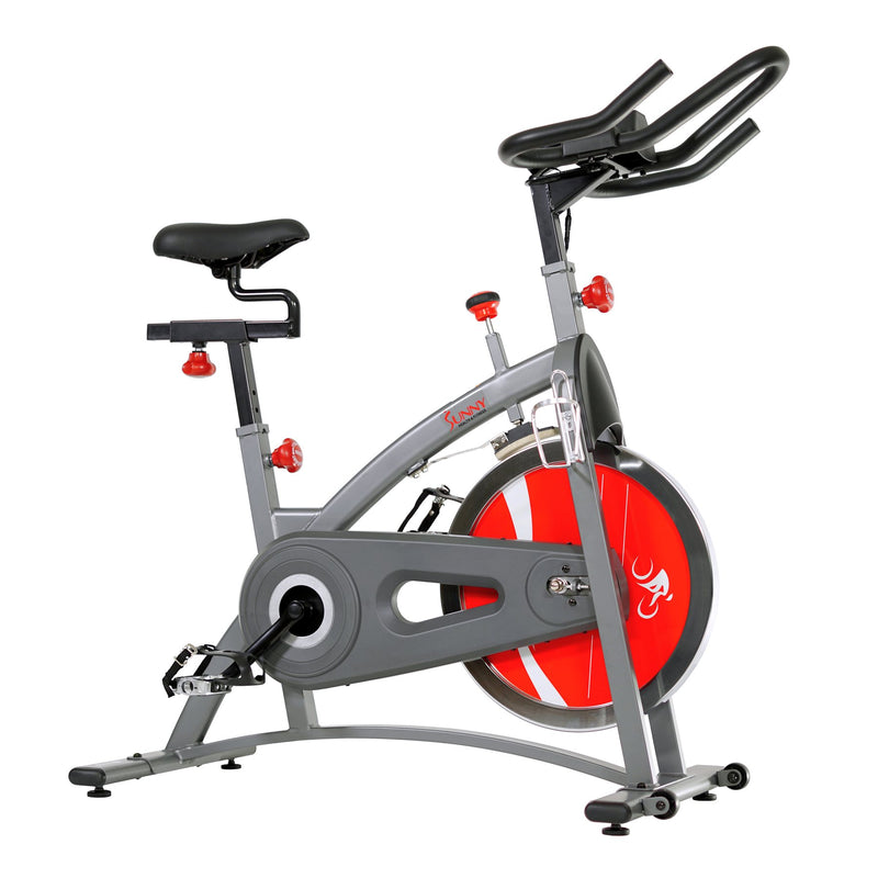 Sunny health & Fitness Belt Drive Indoor Cycling Bike Exercise Bike W/ Lcd Monitor