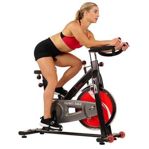 Image of Sunny Health & Fitness Chain Drive Indoor Cycling Trainer Exercise Bike