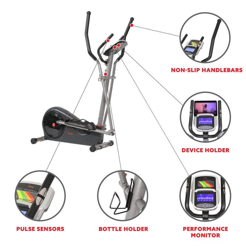 Sunny Health & Fitness Pre-Programmed Elliptical Trainer - SF-E320002