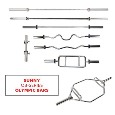 Image of Sunny Health & Fitness Olympic Hex Bar