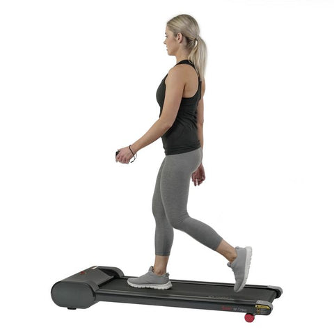 Image of Sunny Health& Fitness Walkstation Slim Flat Treadmill for Under Desk and Home