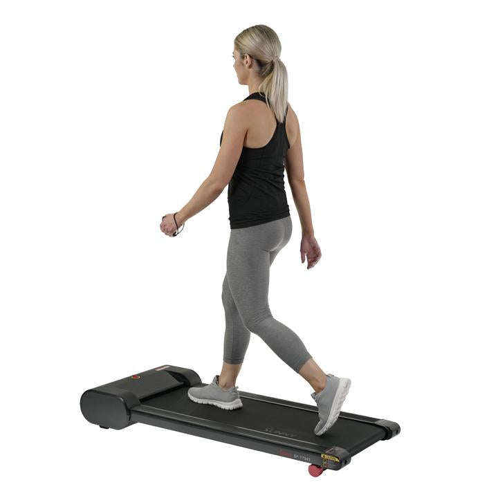 Sunny Health& Fitness Walkstation Slim Flat Treadmill for Under Desk and Home