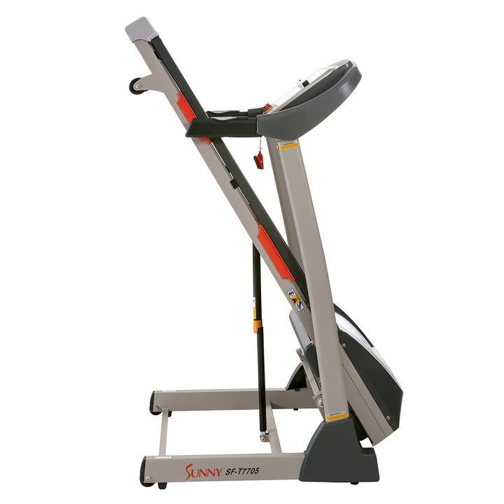 Sunny Health & Fitness Portable Treadmill W/ Auto Incline, LCD, Smart App, and Shock Absorber
