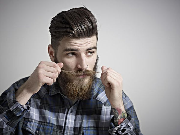 styled beard and mustache
