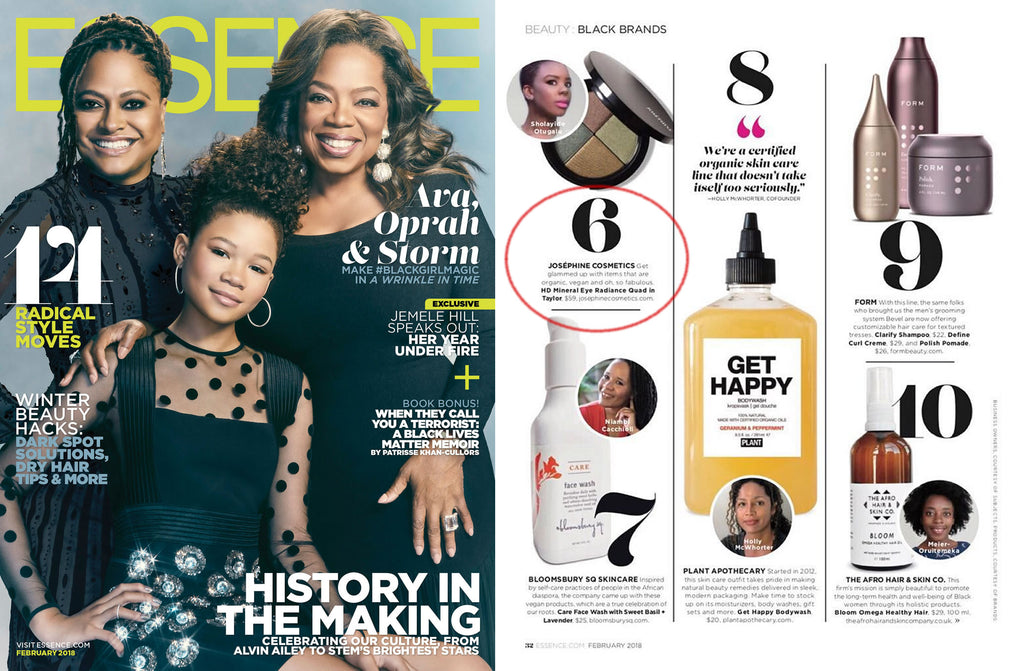 Josephine Cosmetics in Essence Magazine February 2018