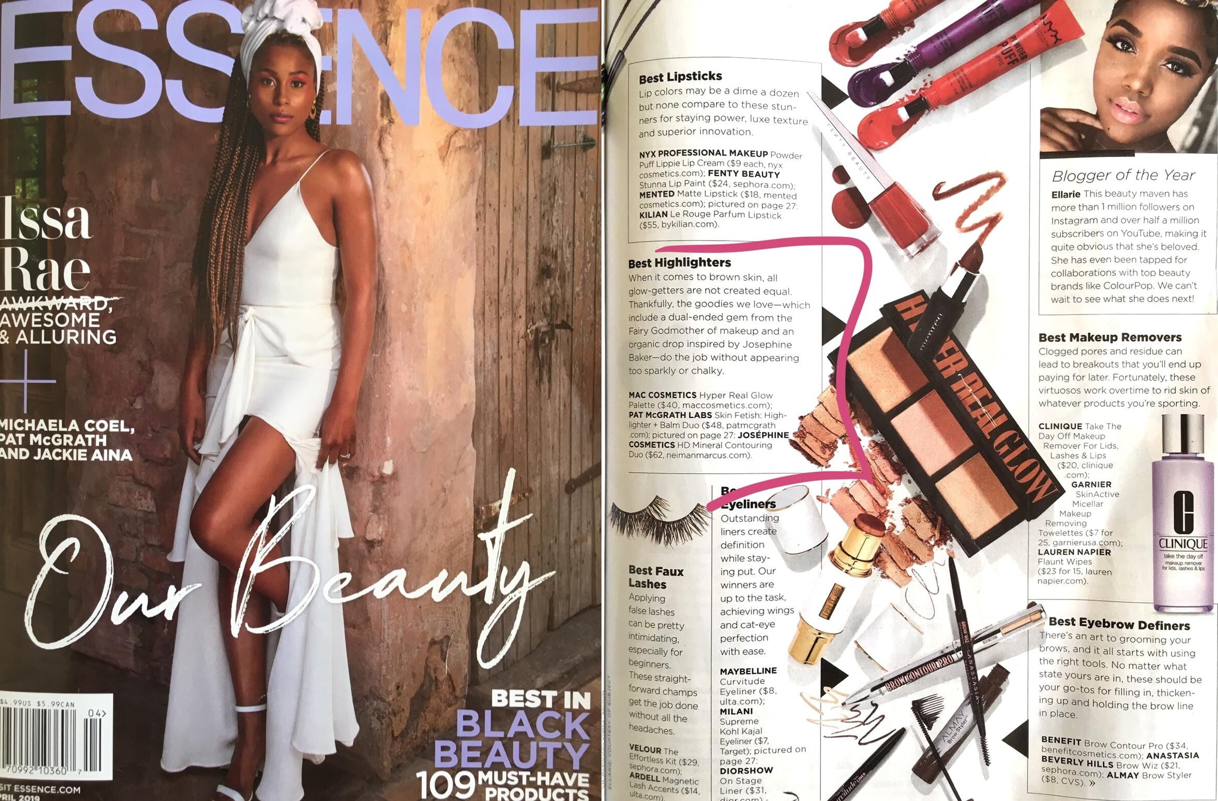 Josephine Cosmetics Essence Magazine Black Beauty Awards Feature