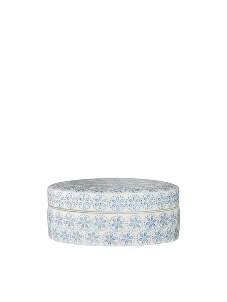 Margot Blue Jar w/Lid Stoneware #21107364