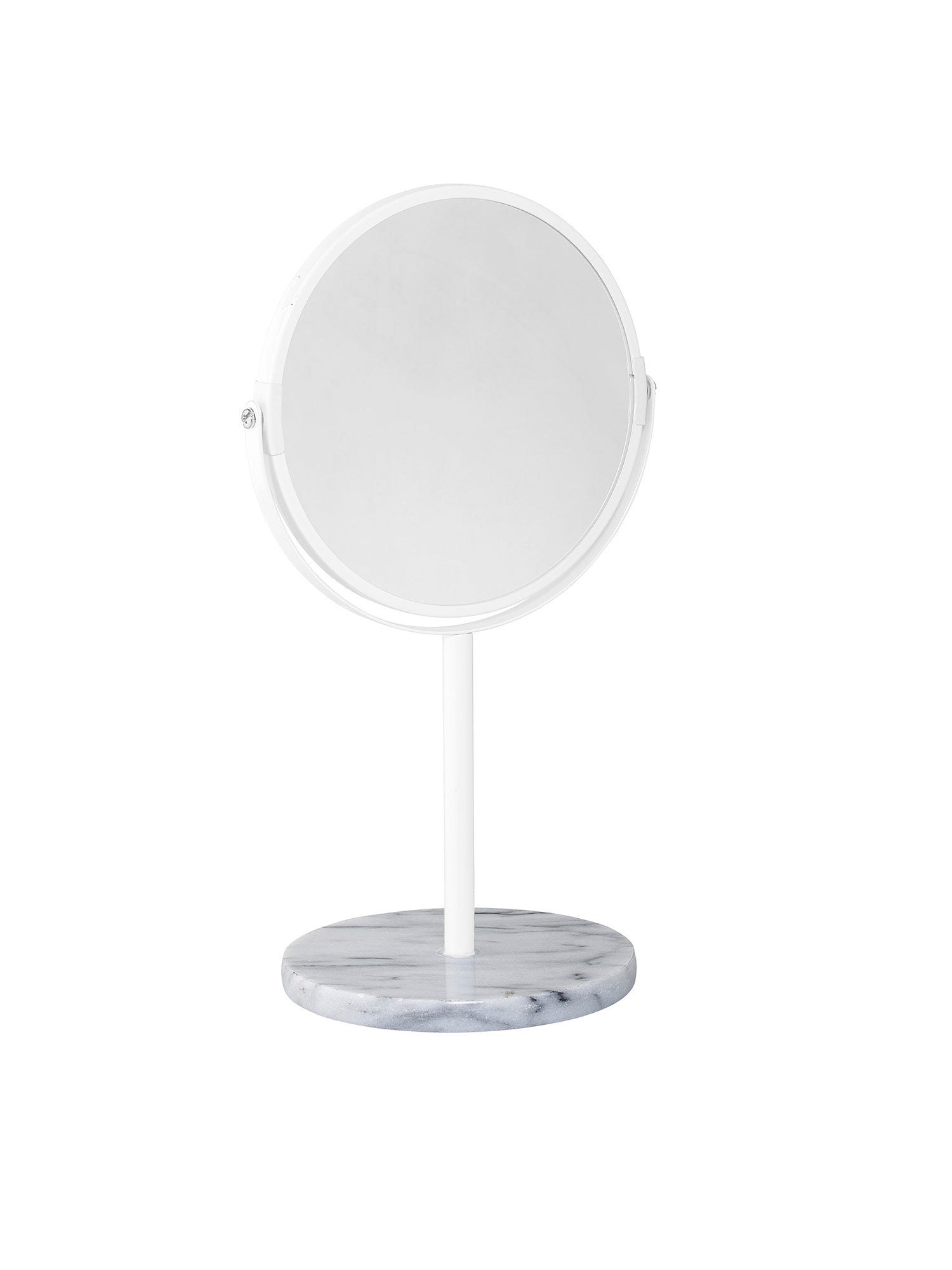 White Marble Table Top Cosmetic Mirror #27166731