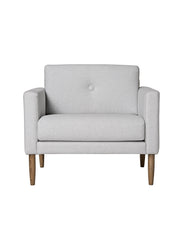 The Calm Chair - 1 Seater Light Grey #50141607-FR