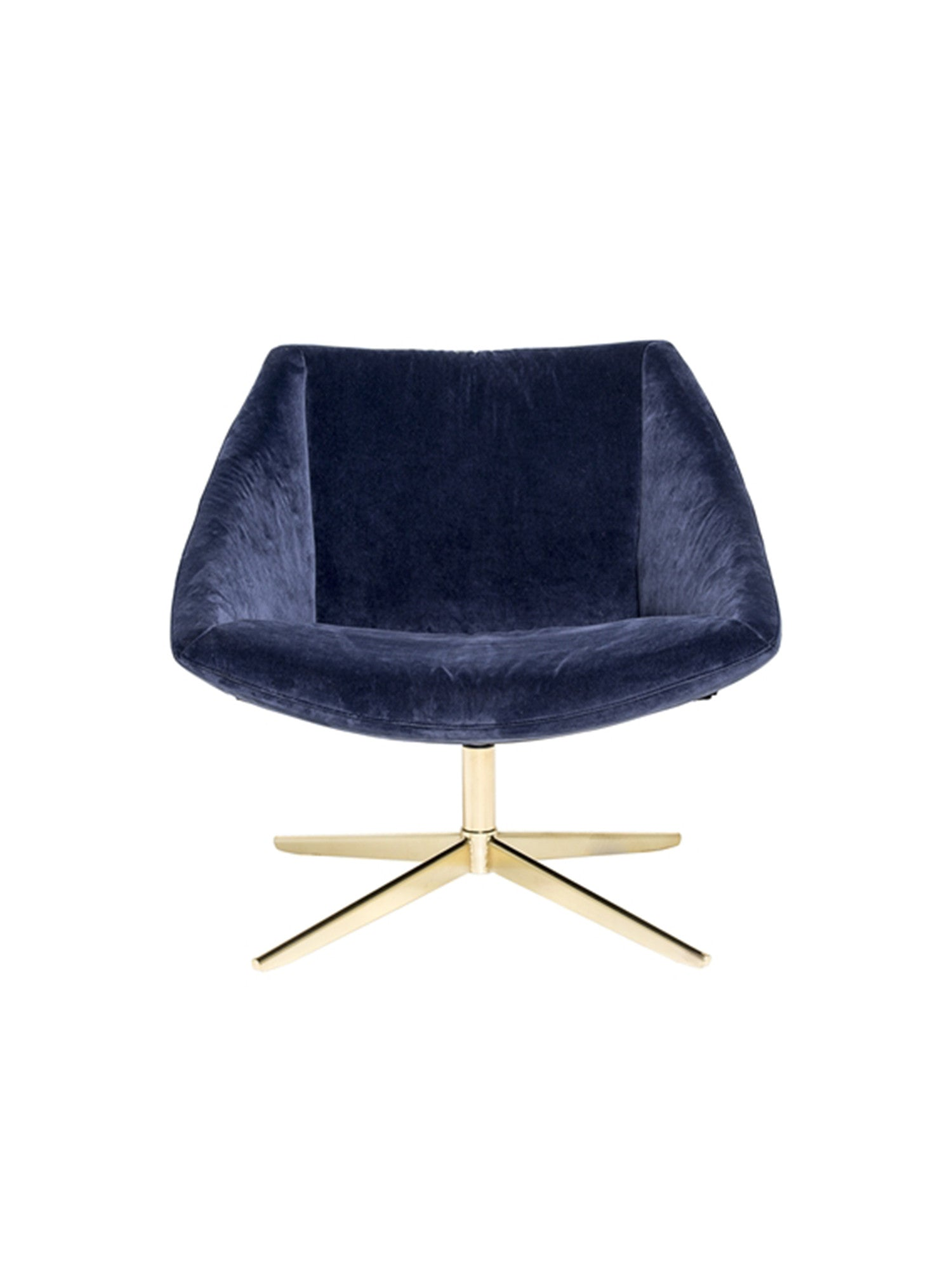 The Elegant Chair - 1 Seater Velvet Blue #50185632