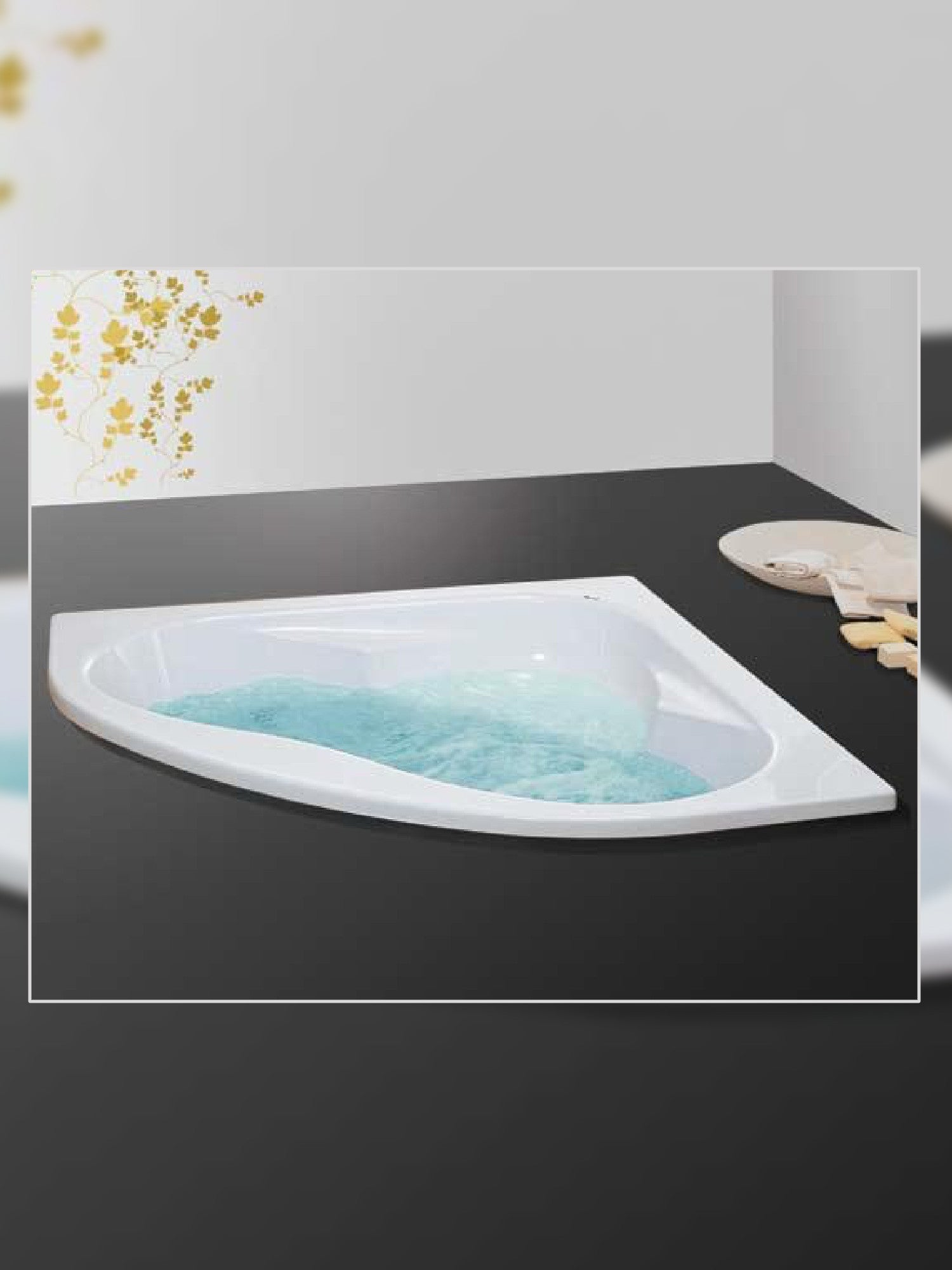 Alfa Corner Bathtub #801100+HC2650UK