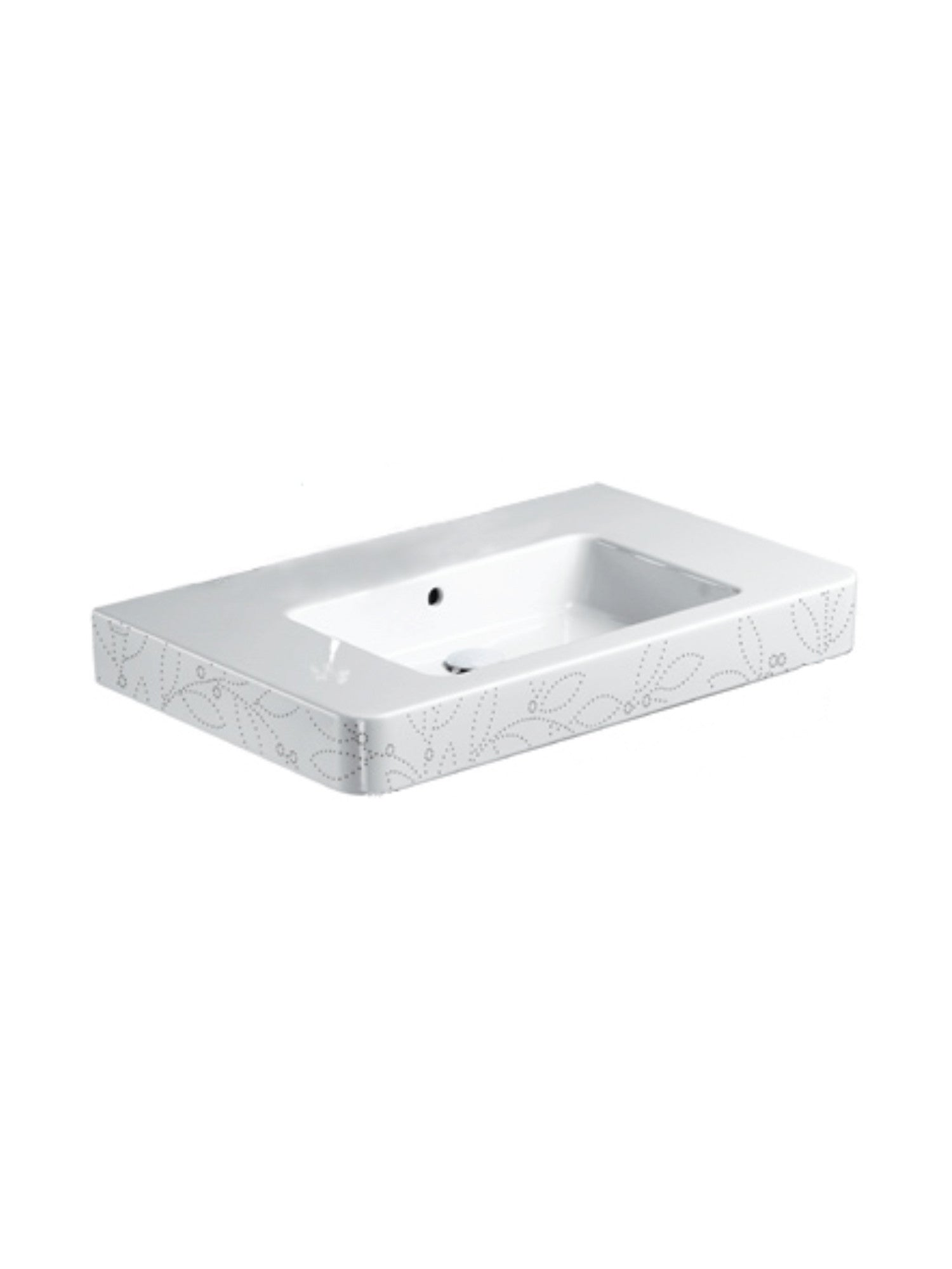 Roma 85 Countertop Basin (Decorated) #85RPD