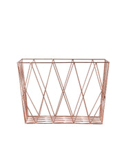 Copper Sq. Storage Basket #27400008
