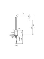 Fima Kitchen Sink Mixer #F3407CR