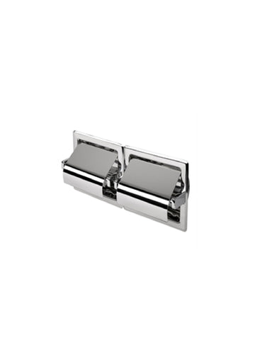 Recessed Double Toilet Roll Holder w/ Cover #117