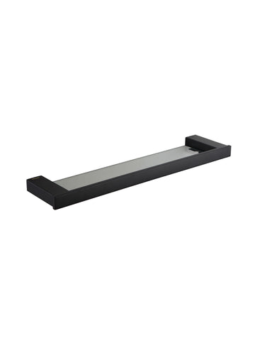 Pompei GW05 66 04 03 Black Glass Shelf - Stainless Steel