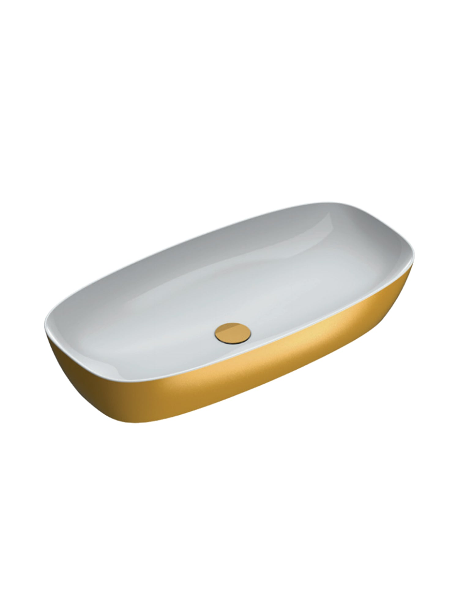 Gold & Silver Green Lux 80 Countertop Basin