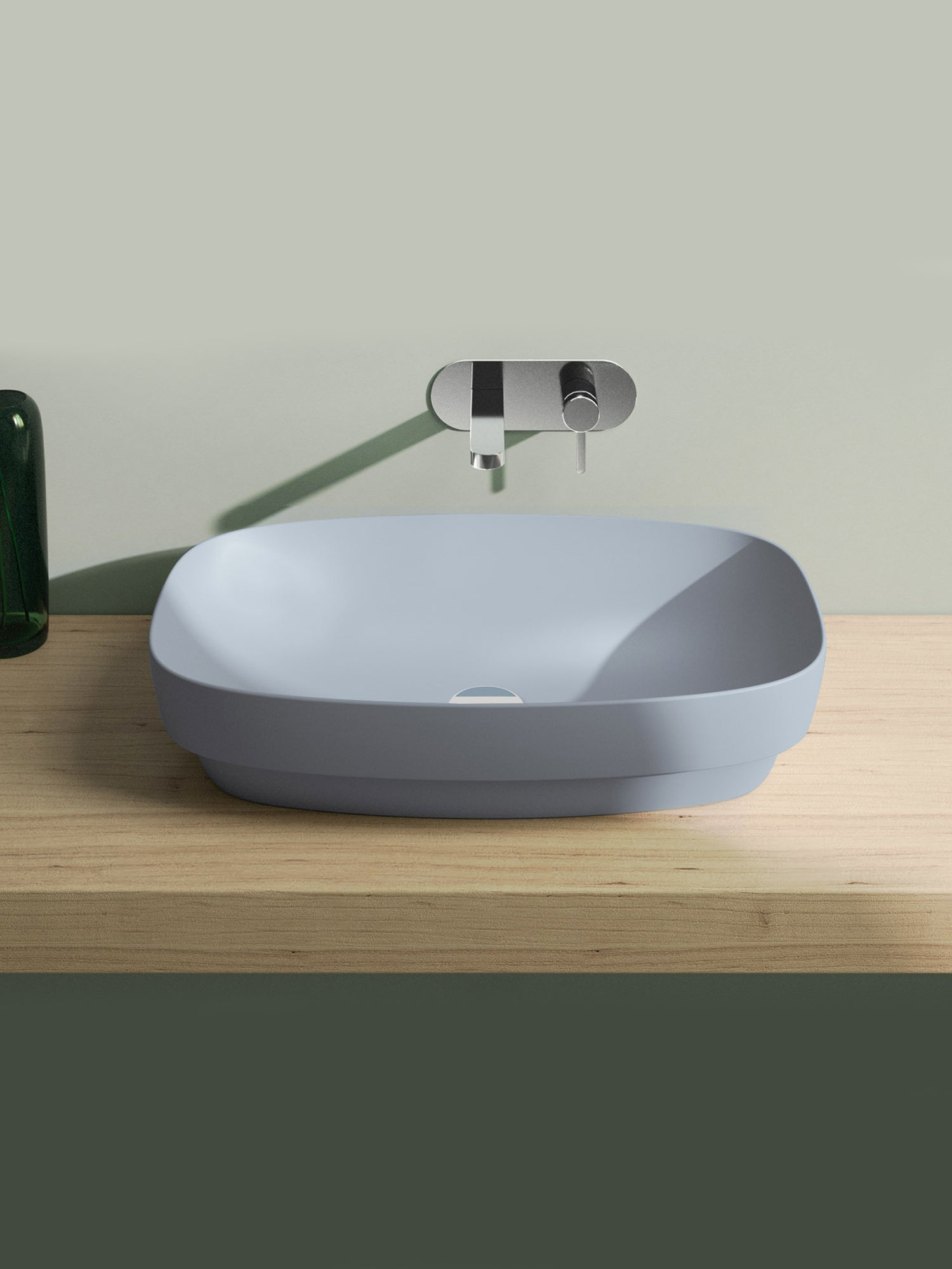 Green Lux Cement Matt Countertop Basin #65AGRLXCS