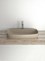Green Lux Brown Matt Countertop Basin #65GRLXNMS