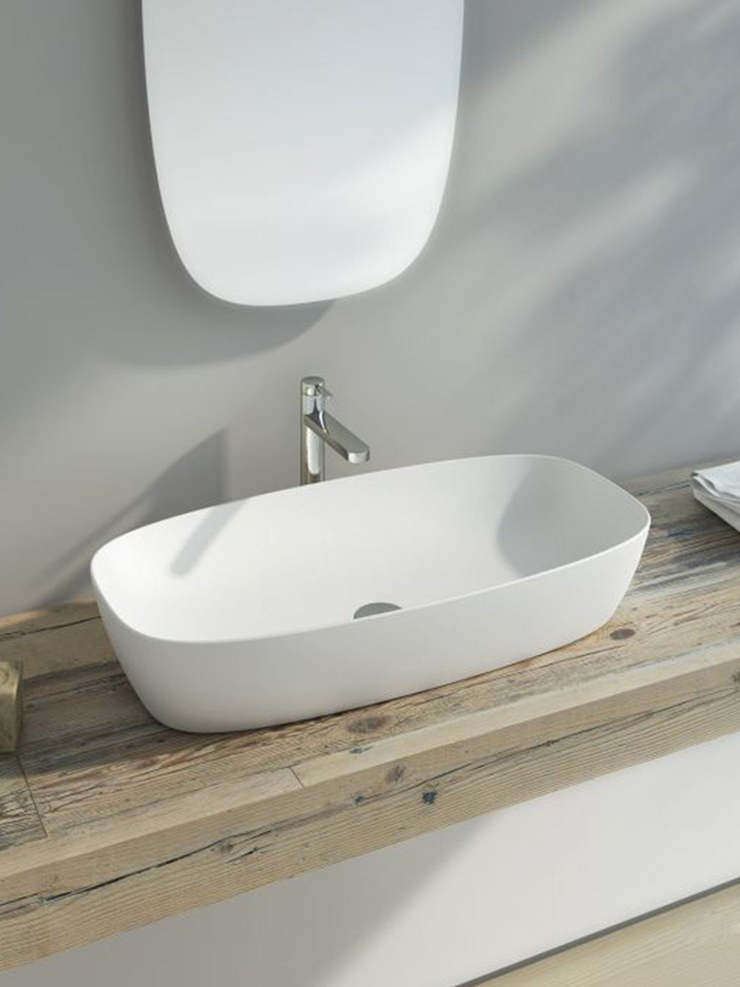 Green Lux Colori Countertop Basin 800X400 (Avail. in 7 Colour Tones)