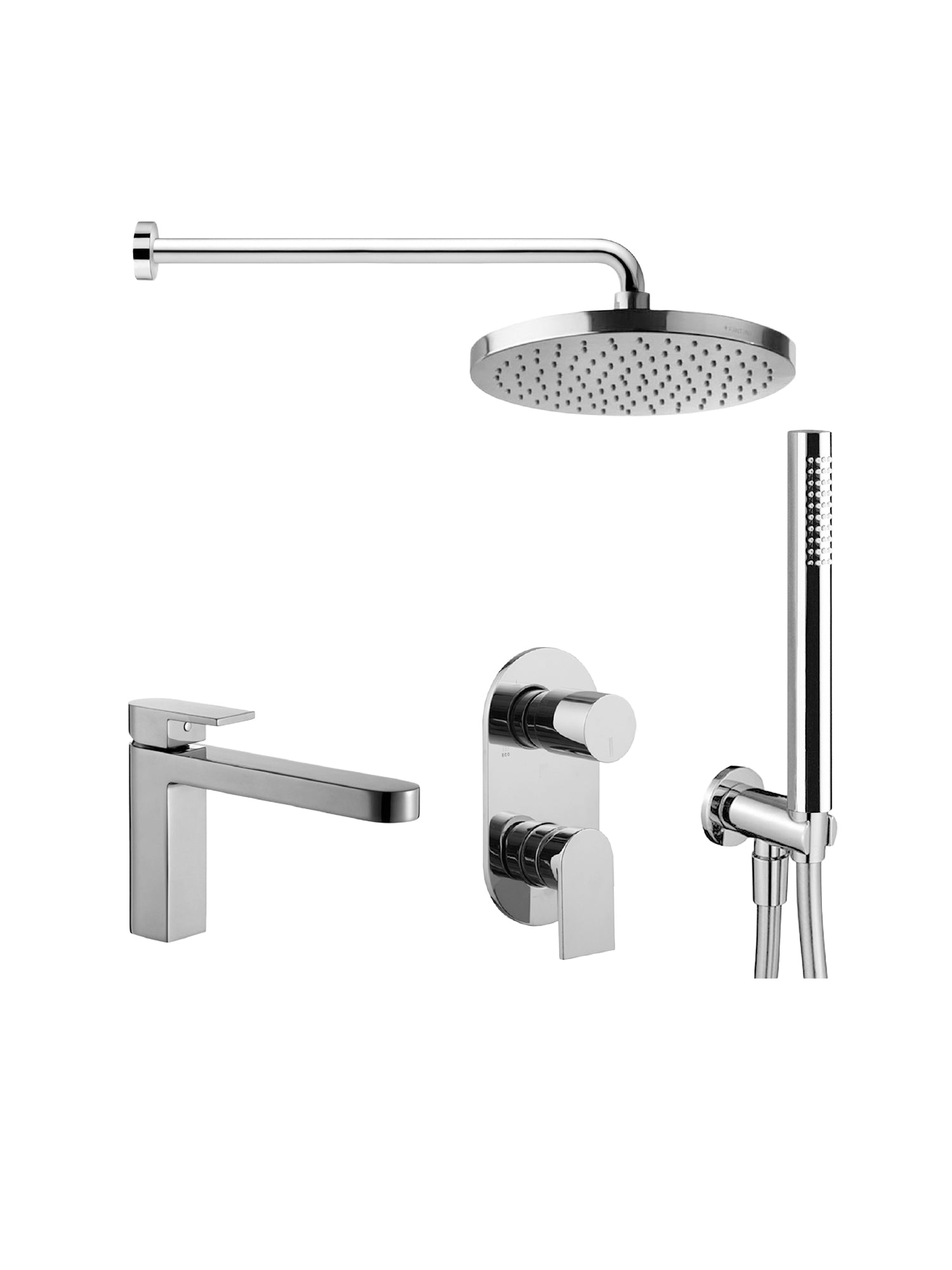 Fantini Mare Shower & Mixer Set 1 - Bundle by Hemsley