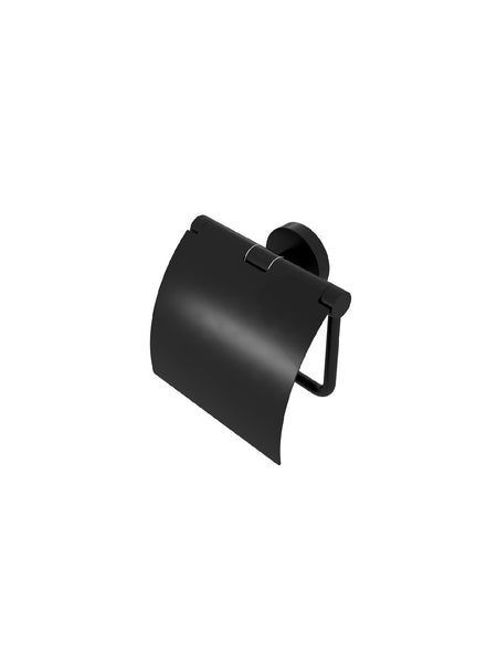 Nemox Black Toilet Roll Holder w/ Cover #6508-06