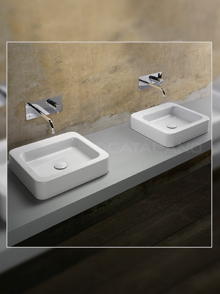 Roma 45 Countertop Basin (Decorated) #45RAD