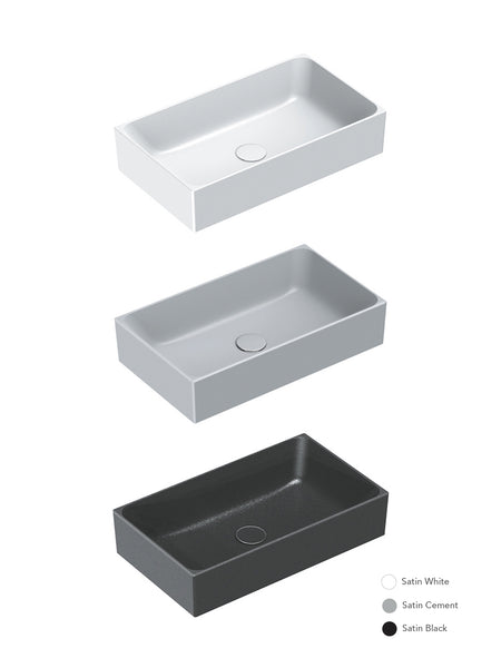 Zero Colori Countertop Basin 600X350 (Avail. in 3 Colours)