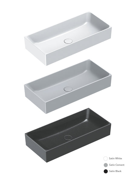 Zero Colori Countertop Basin 750X350 (Avail. in 3 Colours)