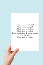 Load image into Gallery viewer, Biden New Mom Card, Biden, Mom Life Card, Political Funny, Printable Card