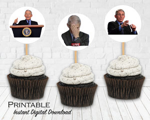 Dr. Fauci Printable Stickers, Dr. Fauci Cupcake Toppers, Political Funny, Instant Digital Download, Election 2020