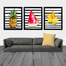Load image into Gallery viewer, Pineapple Print, Printable Pineapple Wall Art, Pineapple Decor, Kitchen Art, Watercolor Print